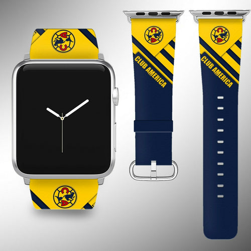 Club America Apple Watch Band 38 40 42 44 mm Series 5 1 2 3 4 Wrist Strap 01