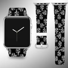 Load image into Gallery viewer, Punisher Apple Watch Band 38 40 42 44 mm Fabric Leather Strap 02