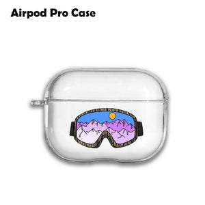 Extreme Sport Snowboard Silicone Case for AirPods 1 2 3 Pro gel clear cover S223