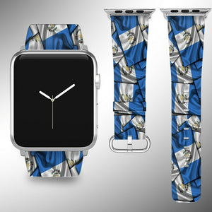 Guatemala Flag Apple Watch Band 38 40 42 44 mm Series 5 1 2 3 4 Wrist Strap