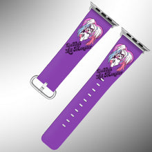 Load image into Gallery viewer, Harley Quinn Apple Watch Band 38 40 42 44 mm Fabric Leather Strap 3