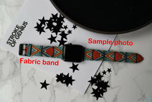 Load image into Gallery viewer, Chicago Blackhawks Apple Watch Band 38 40 42 44 mm Fabric Leather Strap 01