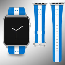 Load image into Gallery viewer, Honduras Flag Apple Watch Band 38 40 42 44 mm Series 1-5 Fabric Leather Strap 02