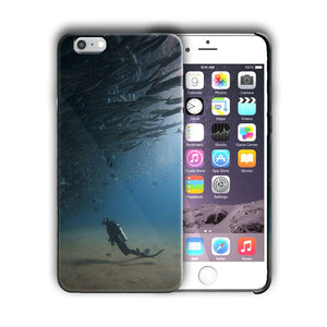 Extreme Sports Diving Iphone 4 4s 5 5s 5c SE 6 6s 7 + Plus Case Cover 01