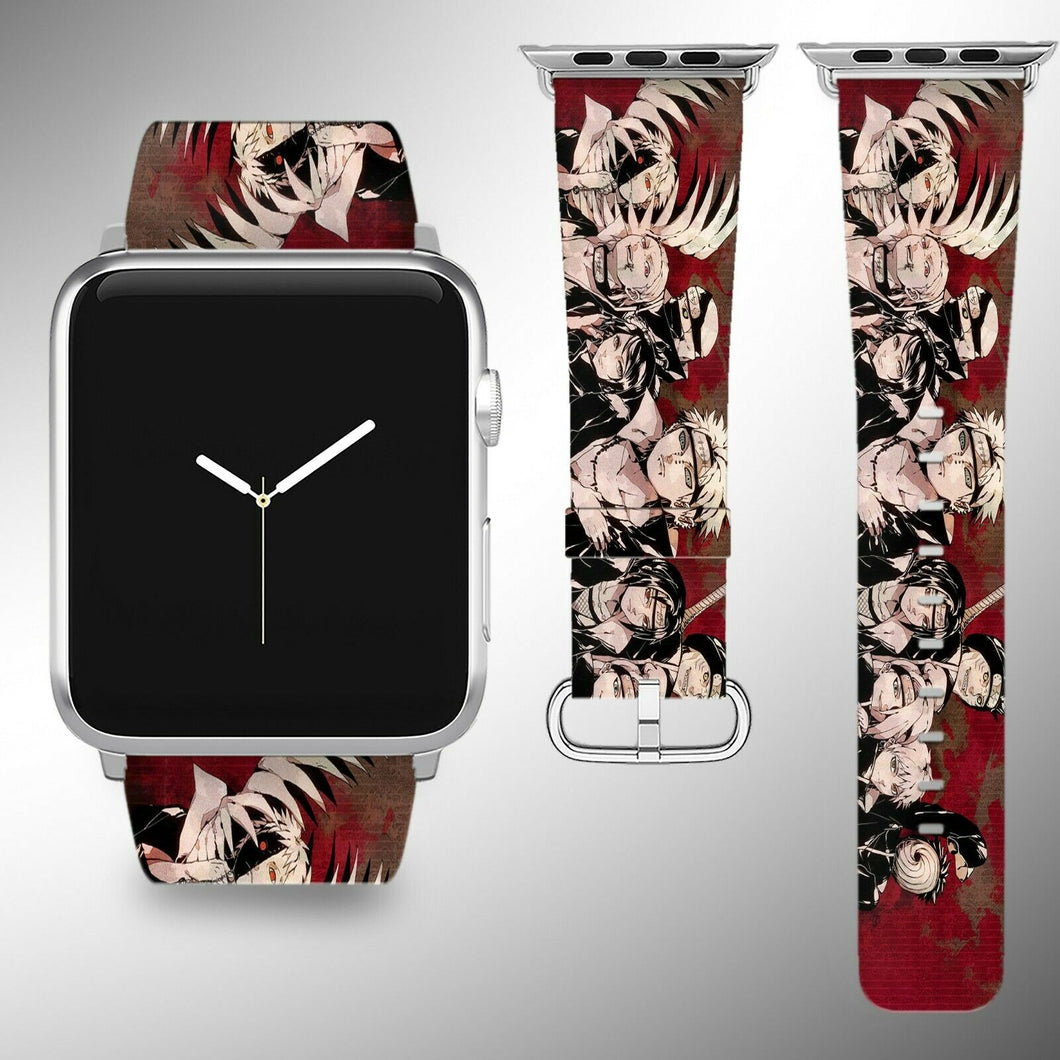 Naruto Apple Watch Band 38 40 42 44 mm Fabric Leather Strap 2