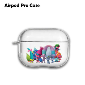 Trolls Best Silicone Case for AirPods 1 2 3 Pro gel clear cover SN 243