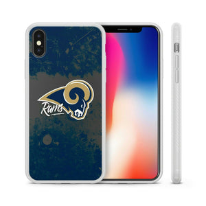 Rubber bumper case LA Rams for iphone 8 7 6 5 plus X XS Max XR cover