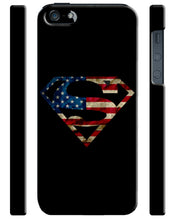 Load image into Gallery viewer, Iphone 4s 5s 5c 6 6S 7 8 X XS Max XR Plus Case Cover Superman Logo Flag USA ip1
