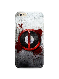 Iphone 4s 5s 5c 6 6S 7 8 X XS Max XR Plus Hard Cover Case Deadpool Logo