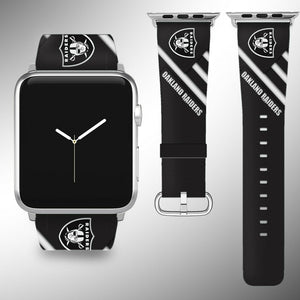 Oakland Raiders Apple Watch Band 38 40 42 44 mm Series 5 1 2 3 4 Wrist Strap 04