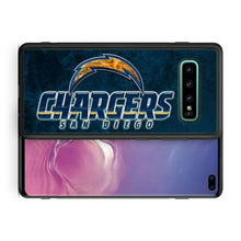 Load image into Gallery viewer, Rubber bumper case San Diego Chargers for Galaxy S10 E S9 plus S8 S7 note S6 S5