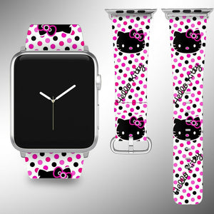 Hello Kitty Apple Watch Band 38 40 42 44 mm Series 5 1 2 3 4 Wrist Strap 02