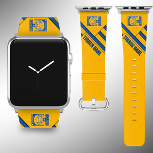 Tigres UANL Apple Watch Band 38 40 42 44 mm Series 1 2 3 4 Fabric Leather Strap