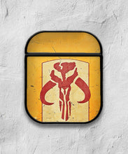 Load image into Gallery viewer, Star Wars Mandalorian Symbol case for AirPods 1 or 2 protective cover skin