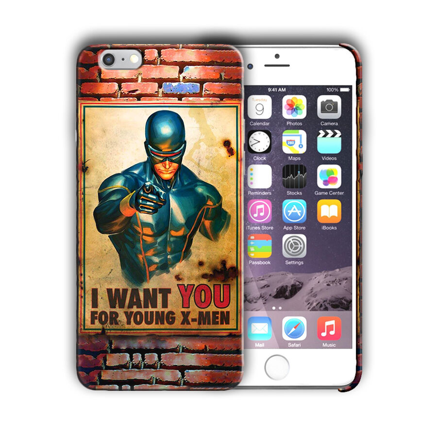 X-Men Cyclops Iphone 4s 5 SE 6 7 8 X XS Max XR 11 Pro Plus Case 2