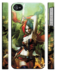 Iphone 4 4s 5 5s 5c 6 6S 7 8 X XS Max XR Plus Case Cover Harley Quinn Comics 16