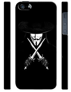V For Vendetta Mask Christmas iPhone 4 4S 5 5S 5c 6 6S 7 + Plus Case Cover 54