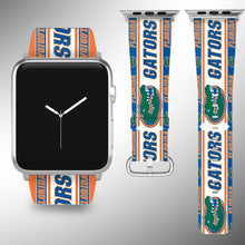 Load image into Gallery viewer, Florida Gators Apple Watch Band 38 40 42 44 mm Fabric Leather Strap 1