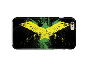 Jamaica National Symbol Eagle Flag iPhone 4 4S 5 5S 5c 6 6S 7 + Plus Case Cover