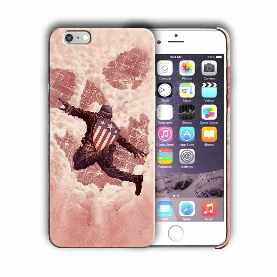 Super Hero Captain America Iphone 4s 5 5s 5c SE 6s 7 8 X XS Max XR Plus Case n2