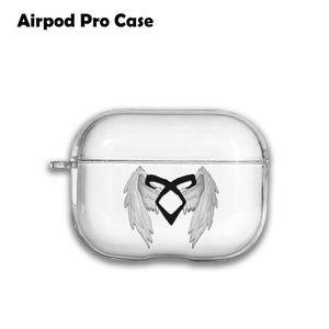 Angelic Power Rune Silicone Case for AirPods 1 2 3 Pro gel clear cover SN 131