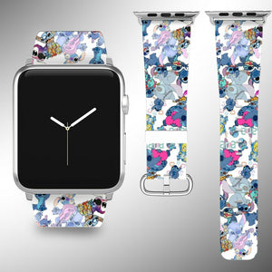 Lilo & Stitch Apple Watch Band 38 40 42 44 mm iWatch series 6 5 4 3 SE wristband
