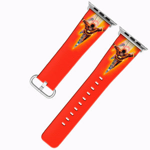 Flash Apple Watch Band 38 40 42 44 mm Series 5 1 2 3 4 Fabric Leather Strap 04