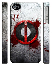 Load image into Gallery viewer, Iphone 4s 5s 5c 6 6S 7 8 X XS Max XR Plus Hard Cover Case Deadpool Logo