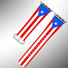 Load image into Gallery viewer, Puerto Rico Flag Apple Watch Band 38 40 42 44 mm Series 5 1 2 3 4 Wrist Strap 2