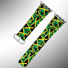 Load image into Gallery viewer, Jamaica Flag Apple Watch Band 38 40 42 44 mm Series 5 1 2 3 4 Wrist Strap