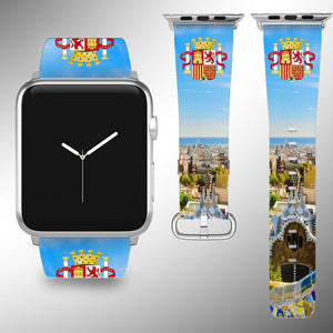 Spain Coat of Arms Apple Watch Band 38 40 42 44 mm Series 5 1 2 3 4 Wrist Strap