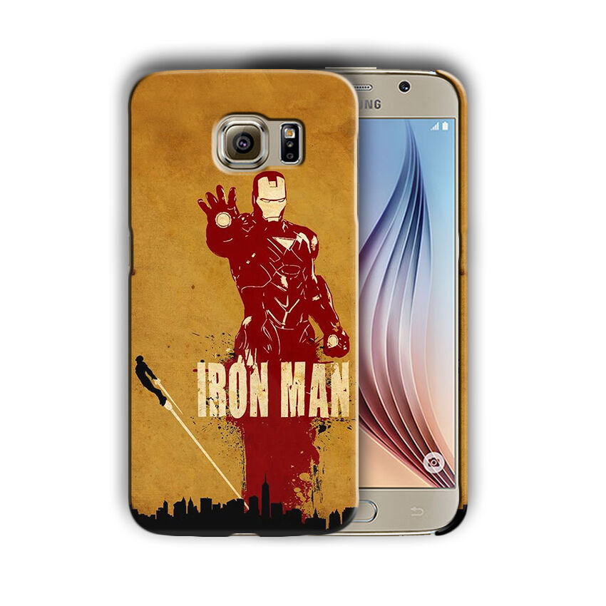 Super Hero Iron Man Samsung Galaxy S4 5 6 7 8 9 10 E Edge Note Plus Case n7