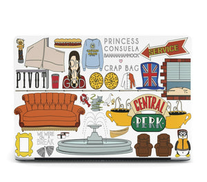 Friends Series MacBook case for Mac Air Pro M1 13 16 12 inch Cover Perk 01