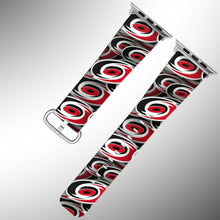 Load image into Gallery viewer, Carolina Hurricanes Apple Watch Band 38 40 42 44 mm Fabric Leather Strap 01