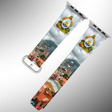 Load image into Gallery viewer, Honduras Coat of Arms Apple Watch Band 38 40 42 44 mm Fabric Leather Strap