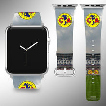 Load image into Gallery viewer, Club America Apple Watch Band 38 40 42 44 mm Series 1 - 4 Fabric Leather Strap 3