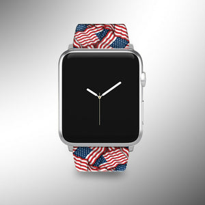 USA Flag Apple Watch Band 38 40 42 44 mm Series 5 1 2 3 4 Wrist Strap 01