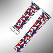 Load image into Gallery viewer, Texas Flag Apple Watch Band 38 40 42 44 mm Series 1 - 5 Fabric Leather Strap 1