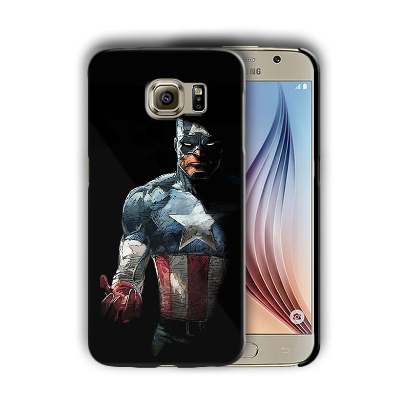 Captain America Samsung Galaxy S4 5 6 7 8 9 10 E Edge Note 3 - 10 Plus Case n9
