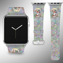 Load image into Gallery viewer, Harley Quinn Apple Watch Band 38 40 42 44 mm Fabric Leather Strap 2