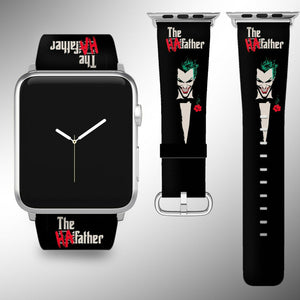 Joker Apple Watch Band 38 40 42 44 mm Fabric Leather Strap 1