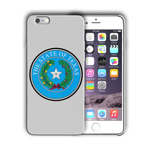 Texas State Symbols Seal Iphone 4 4s 5 5s 5c SE 6s 7 8 X XS Max XR Plus Case 04