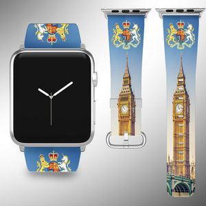 United Kingdom Coat of Arms Apple Watch Band 38 40 42 44 mm Wrist Strap