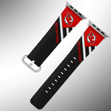 Load image into Gallery viewer, New Jersey Devils Apple Watch Band 38 40 42 44 mm Fabric Leather Strap 02