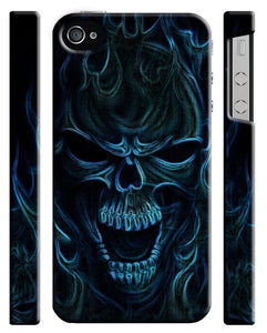Halloween Skull Evil Horror Iphone 4 4s 5 5s 5c 6 6s 7 + Plus Case Cover