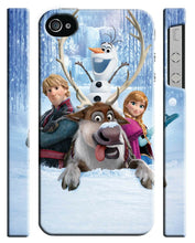 Load image into Gallery viewer, Iphone 4 4s 5 5s 5c 6 6S 7 8 X XS Max XR Plus Case Frozen Snowman Olaf Kids