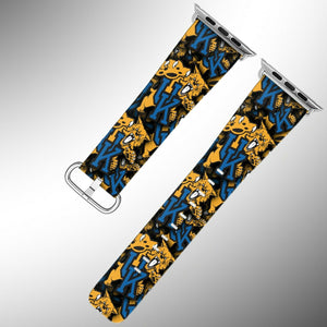 Kentucky Wildcats Apple Watch Band 38 40 42 44 mm Fabric Leather Strap 1