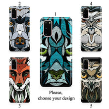 Load image into Gallery viewer, Geometric animal case for Galaxy s20 s20+ Ultra s10 s10+ s9 s8 s7 S6 Edge SN