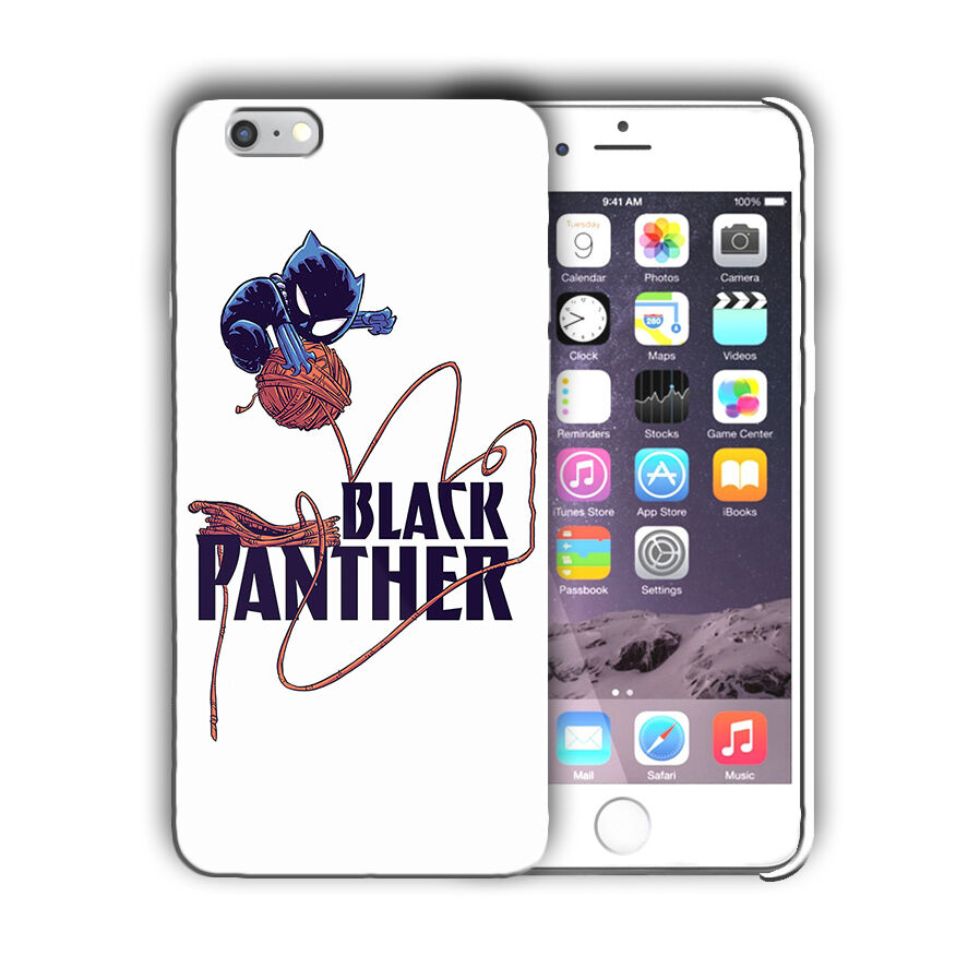 Super Hero Black Panther Iphone 4 4s 5 5s 5c SE 6s 7 8 X XS Max XR Plus Case n3