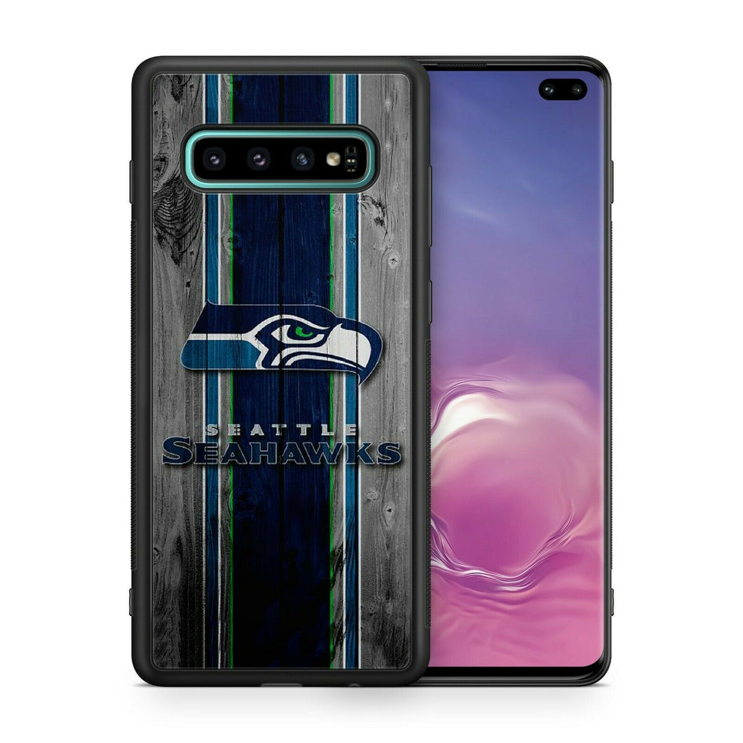Seattle Seahawks TPU bumper case for Galaxy S10 E S9 plus note 5 S6 S5 S8 S7